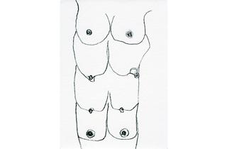 (Carol Rama, 'Cadeau (C.10)', 1999 / Collection Franco Masoero, Turin / © Archivio Carol Rama, Turin)