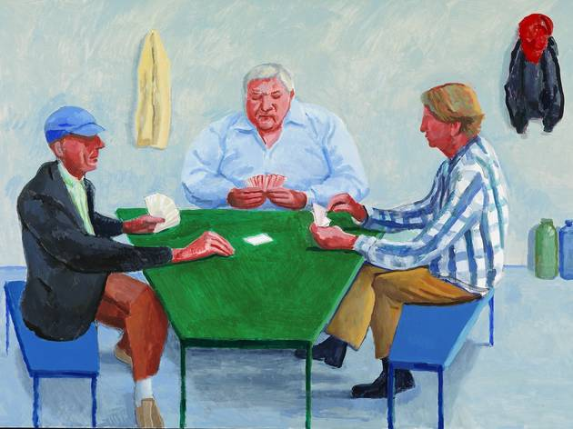 (David Hockney: 'Card Players #11', 2014, © David Hockney Photo Credit: Richard Schmidt)