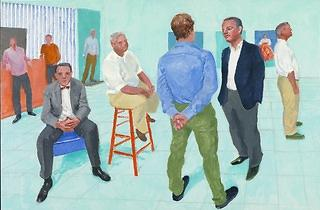 (David Hockney: 'The Group V, 6-11 May', 2014, © David Hockney Photo Credit: Richard Schmidt)