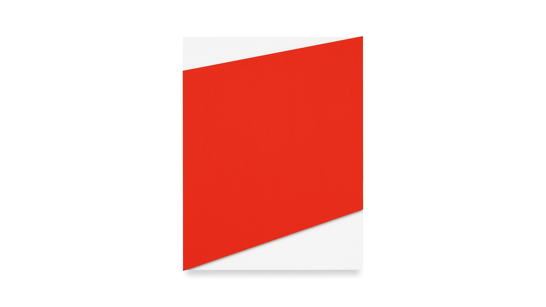 Ellsworth Kelly, Red Relief over White, 2013