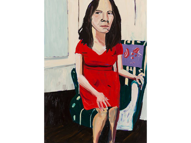 Chantal Joffe, Night Self-Portrait In A Red Dress, 2014