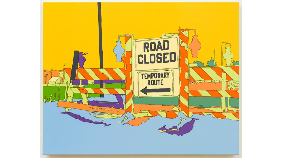 Lisa Ruyter, Arthur Rothstein: Detour sign, Chillicothe, Ohio