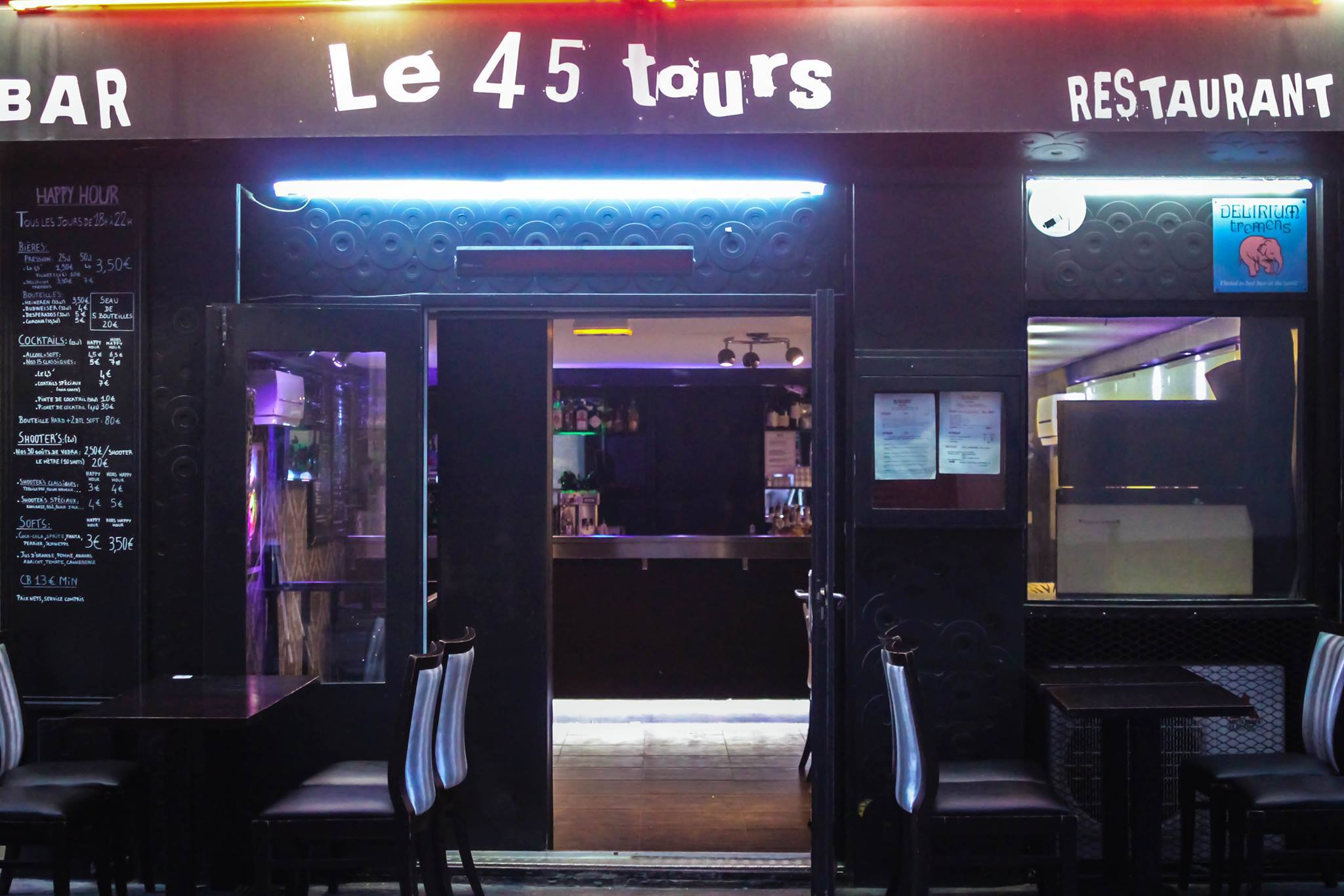 le 45 tours bars and pubs in charonne paris. Black Bedroom Furniture Sets. Home Design Ideas