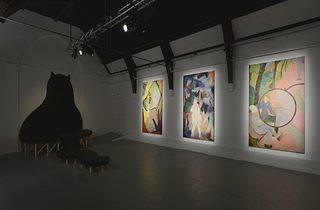 (Sanya Kantarovsky: 'Apricot Juice' installation shot. © the artist, courtesy Studio Voltaire. Photo: Andy Keate)
