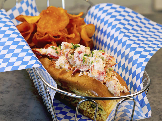 Lobster roll at B.P. Oysterette