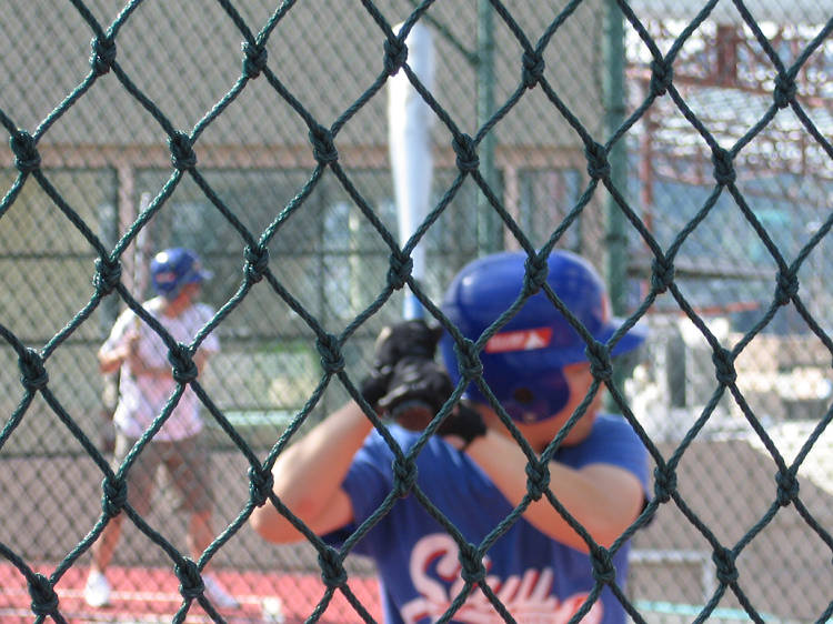 Play ball at It's a Hit! Batting Cages