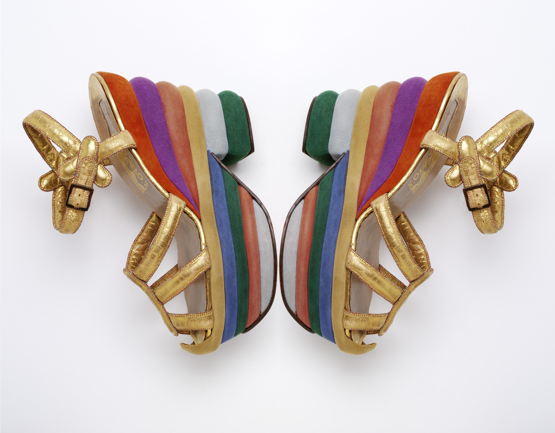 Ferragamo Rainbow Shoes Ferragamo Rainbow Wedges