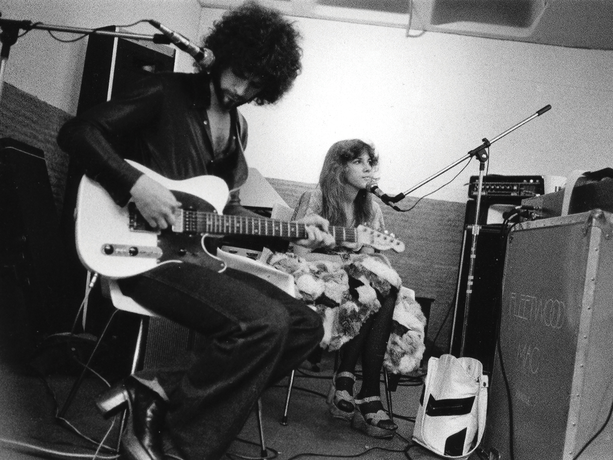 Lindsey Buckingham and Stevie Nicks of Fleetwood Mac