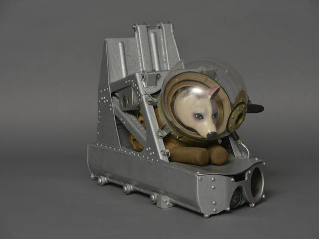 "(Dog ejector seat and suit ca. 1955, c. The open joint-stock company 'Research, Development & Production Enterprise ""Zvezda""'/ Photo: State Museum and Exhibition Centre ROSIZO)"