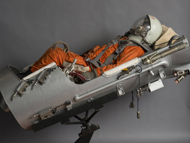 (Vostok VZA ejection seat (engineering model) and SK Suit as used on Vostoks 1–6, 1961-1963. Photo: State Museum and Exhibition Center ROSIZO)