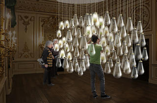 ('Curiosity Cloud' by mischer'traxler for Champagne Perrier-Jouët, image courtesy of the London Design Festival )