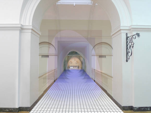 ('Mise-en-abyme' by Matteo Fogale and Laetitia De Allegri supported by Johnson Tiles, image courtesy of the London Design Festival)