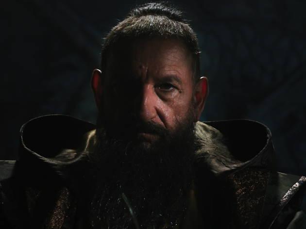 """Ten great screen villains, Ben Kingsley, Marvel's Iron Man 3""""..The Mandarin (Ben Kingsley)..Ph: Film Frame.... 2012 MVLFFLLC.  TM & .. 2012 Marvel.  All Rights Reserved."""