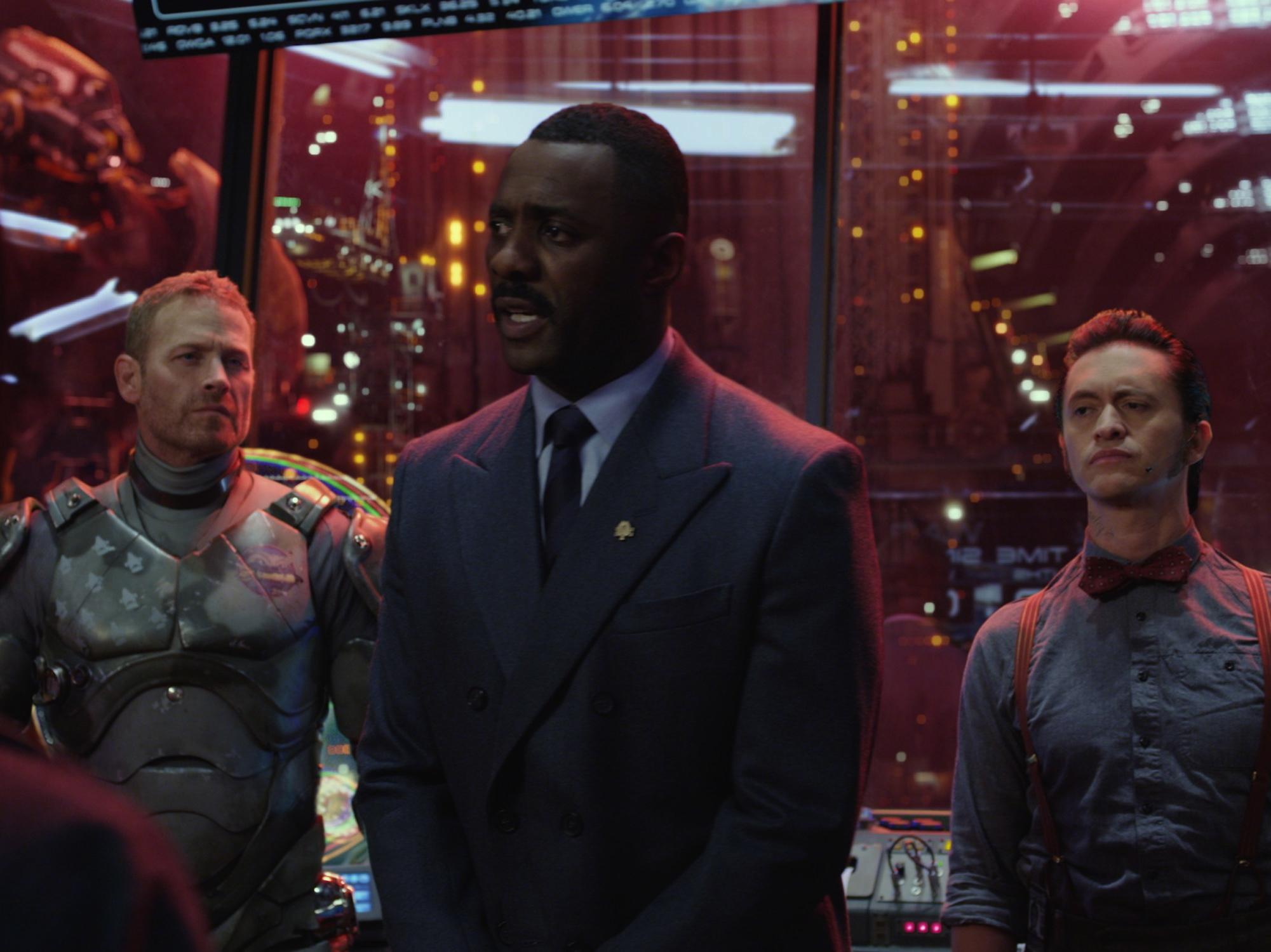 Ten great British action heroes, Pacific Rim..Max Martini as Herc Hansen; Idris Elba as Stacker Pentecost; Clifton Collins Jr. as Ops Tendo Choi.... 2013 Warner Brothers