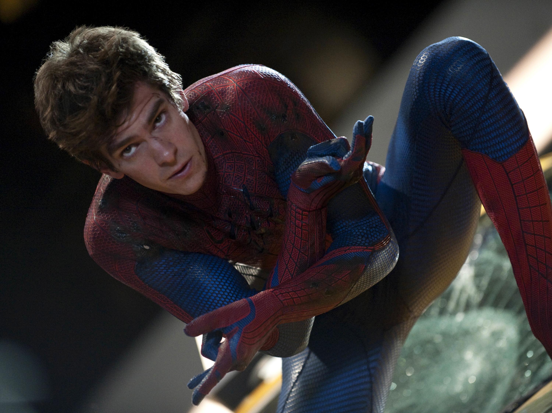 Ten great British action heroes, Andrew Garfield is Peter Parker in THE AMAZING SPIDER-MAN.