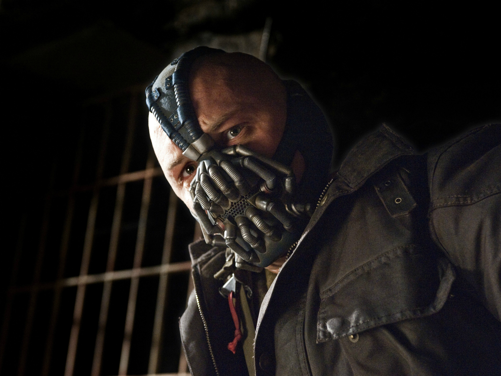 50 Great British Actors, The Dark Knight Rises..Featuring Tom Hardy as Bane. Warner Bros.