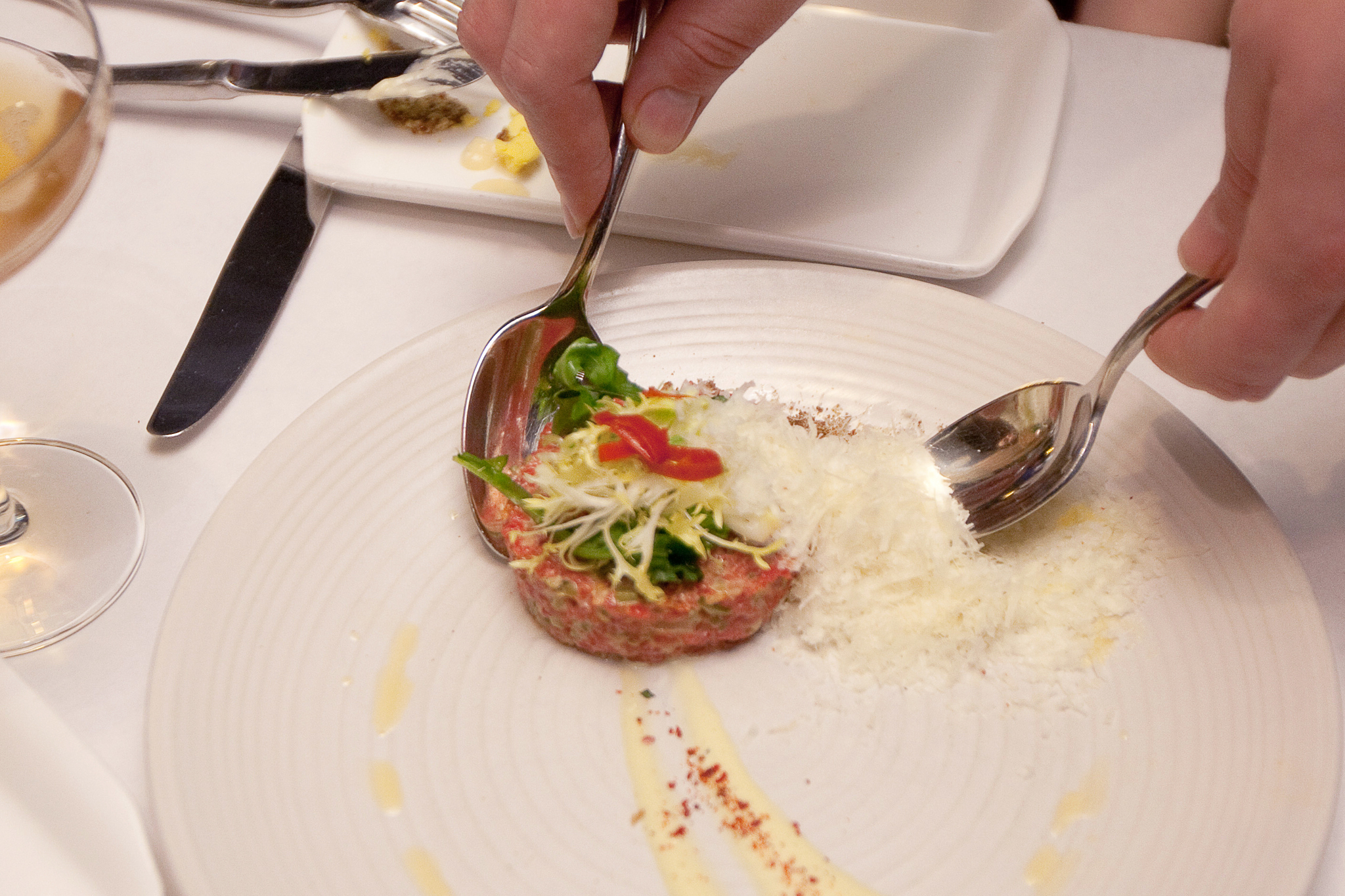Bison tartare at The Gage.