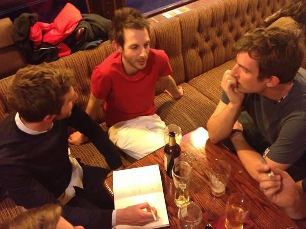 Brainstorming in the pub