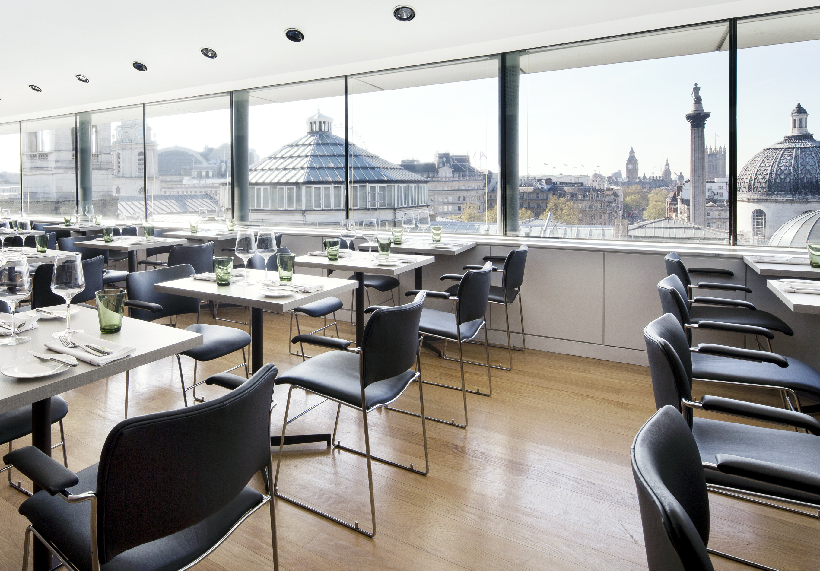 28 restaurants with perfect panoramas londons best restaurants view from the dining room at the portrait restaurant trafalgar square malvernweather Image collections