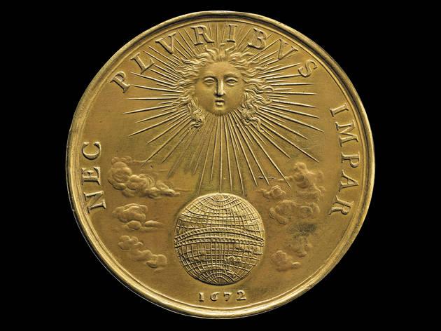 (Nec Pluribus Impar, Designed by Jean Warin, 1672 © The Trustees of the British Museum )