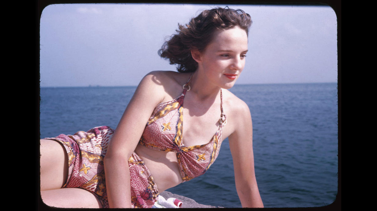 Jean at Promontory Point, September 5, 1946.