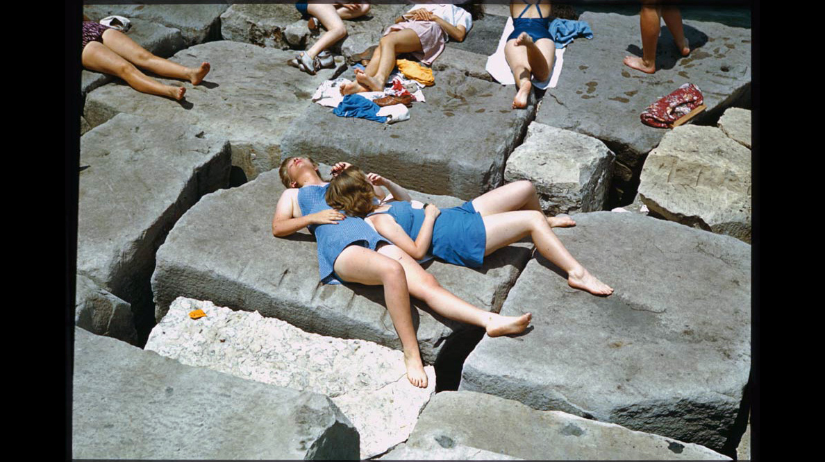 It's summer vacation for for Hyde Park schoolgirls at Promotory Point, June 27, 1941.