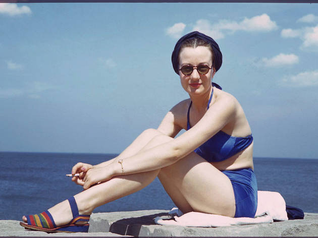 Doris an American Airlines stewardess at Promontory Point, June 27, 1941.