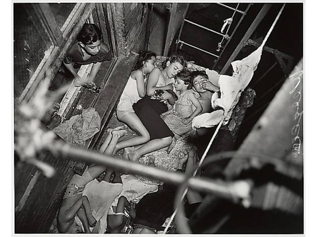 Weegee, Children on Fire Escape, 1938