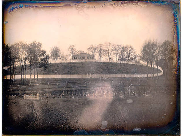 Daguerreotype of a house on old Bloomingdale Road, circa 1849