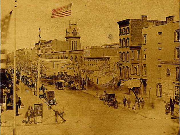 Otto Ebbinghaus & Swift, Broadway and 14th Street showing the Metropolitan Fair, New York City, 1864
