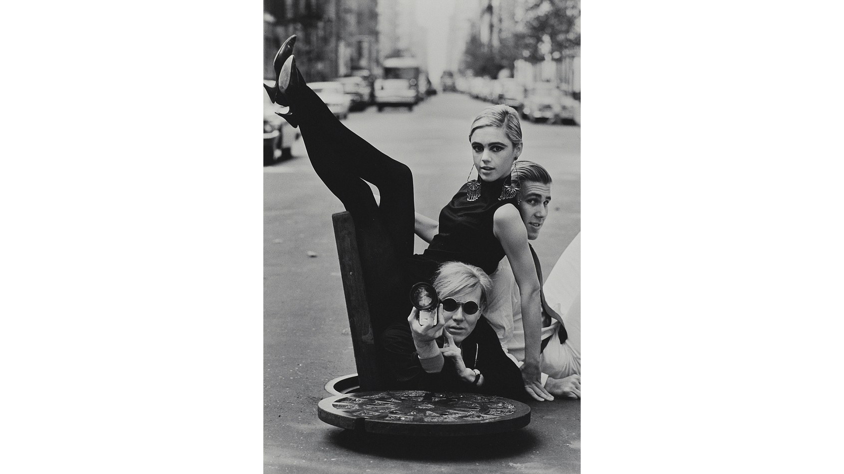 Burt Glinn, Portrait of Andy Warhol, Edie Sedgwick and Chuck Wein, 1965
