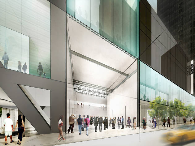 Diller Scofido + Renfro's new design for MoMA; view from 53rd Street