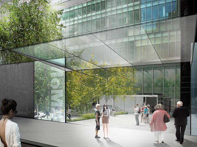Diller Scofido + Renfro's new design for MoMA; view of the Sculpture Garden entrance on 54th Street