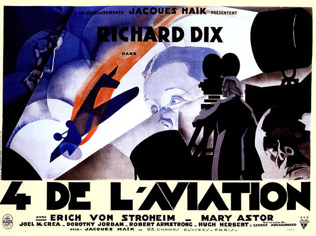 René Péron, French four-panel poster for The Lost Squadron, directed by George Archainbaud, USA, 1932