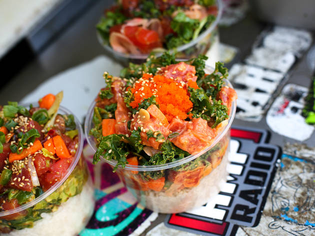 Where to find the best poke bowl in los angeles for Big fish little fish poke