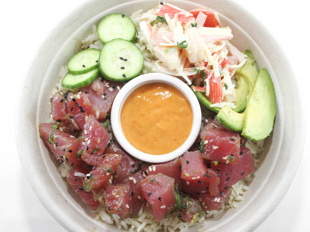 California poke bowl at Sea Salt Fish Grill