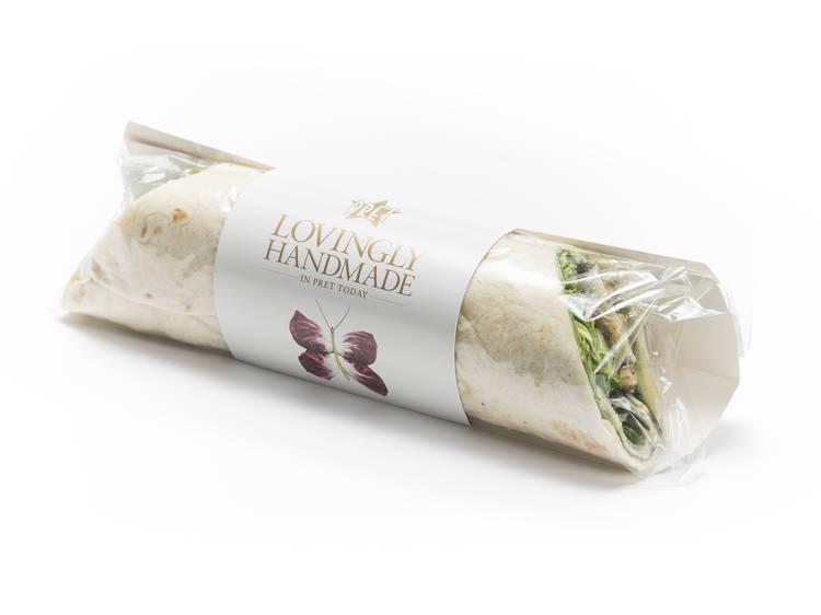 Avocado & herb salad wrap