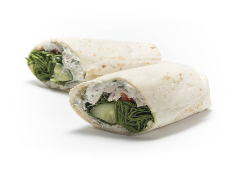 Chicken raita salad wrap