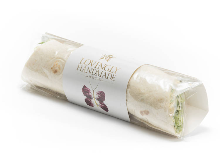 Humous salad wrap