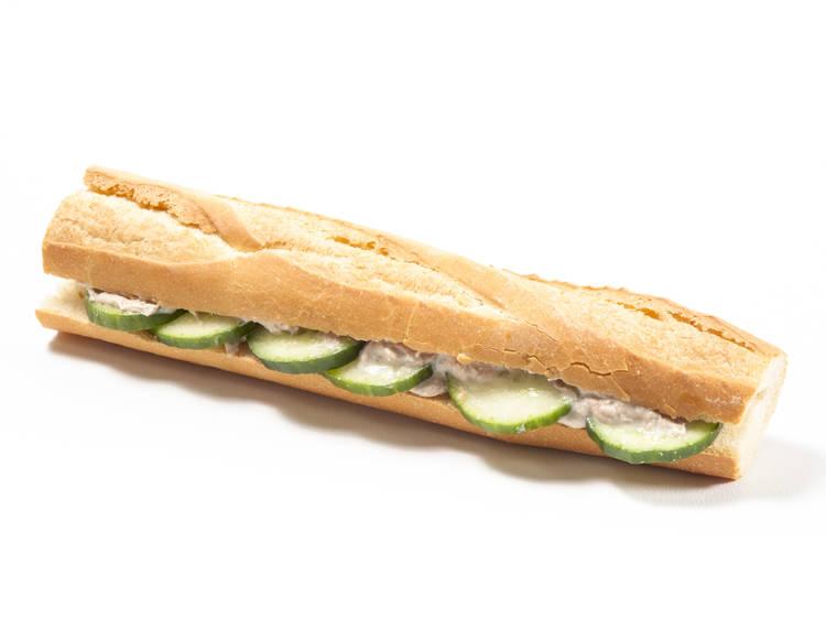 Pole & line caught tuna mayo & cucumber baguette