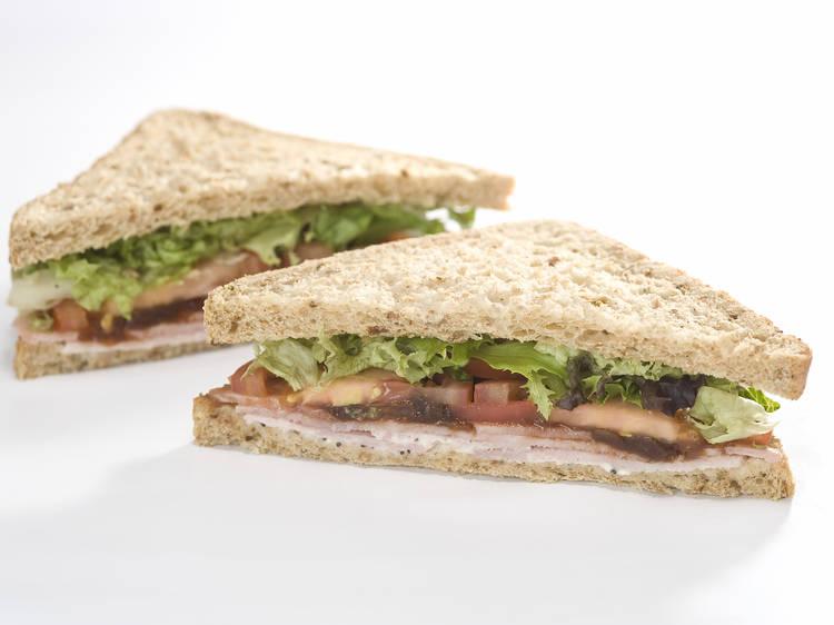 Wiltshire-cured ham & Pret pickle