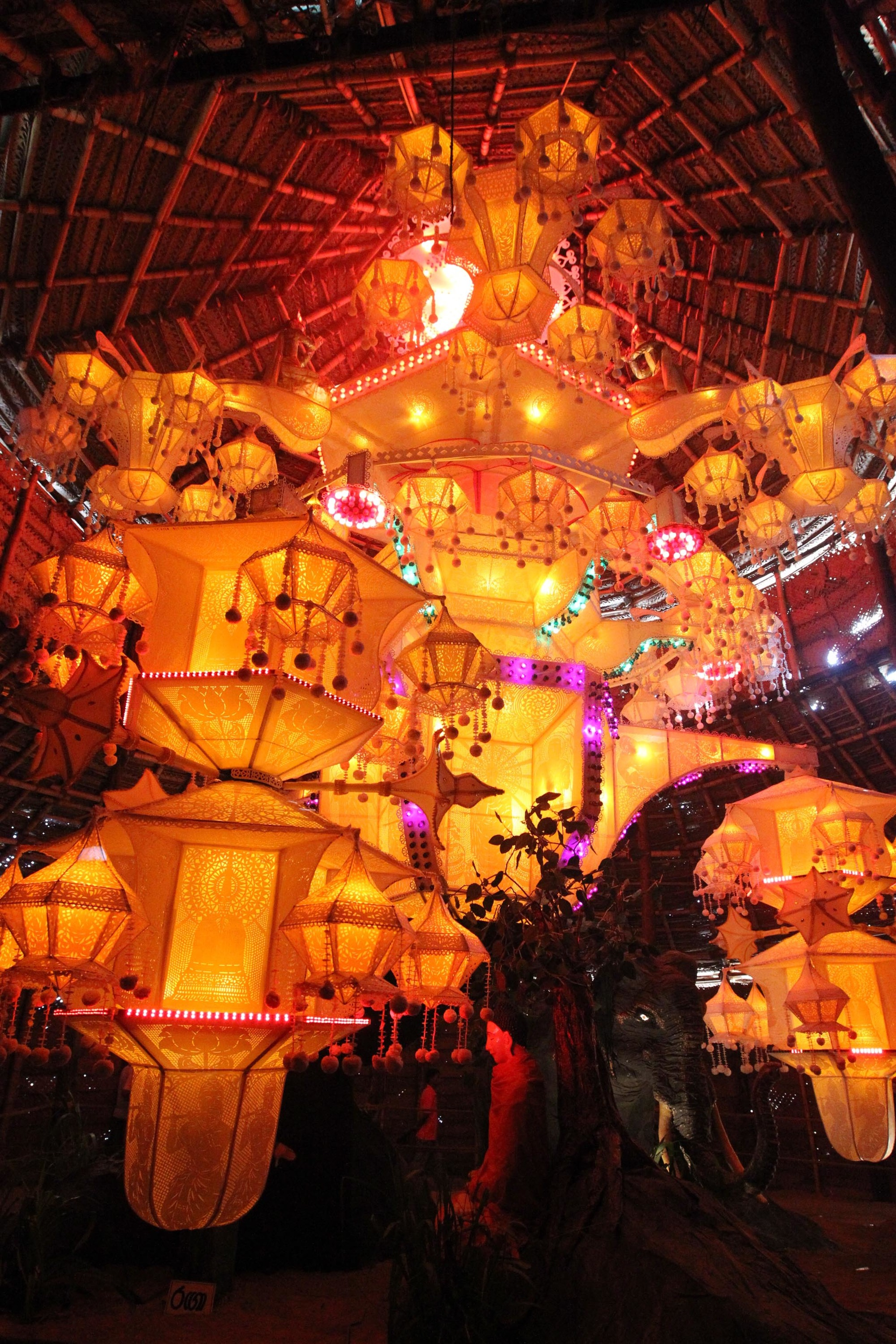 Pandals and lanterns