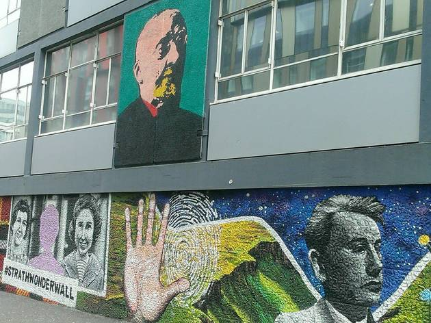 Glasgow Street Art - #strathwonderwall
