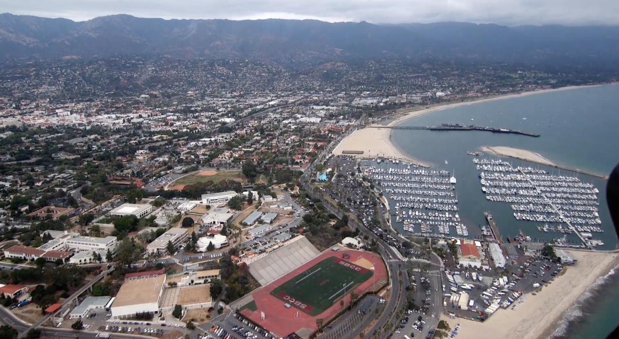 View of the Marina in Santa Barbara
