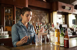 Jacyara de Oliveira is the bar manager at Sportsman's Club.