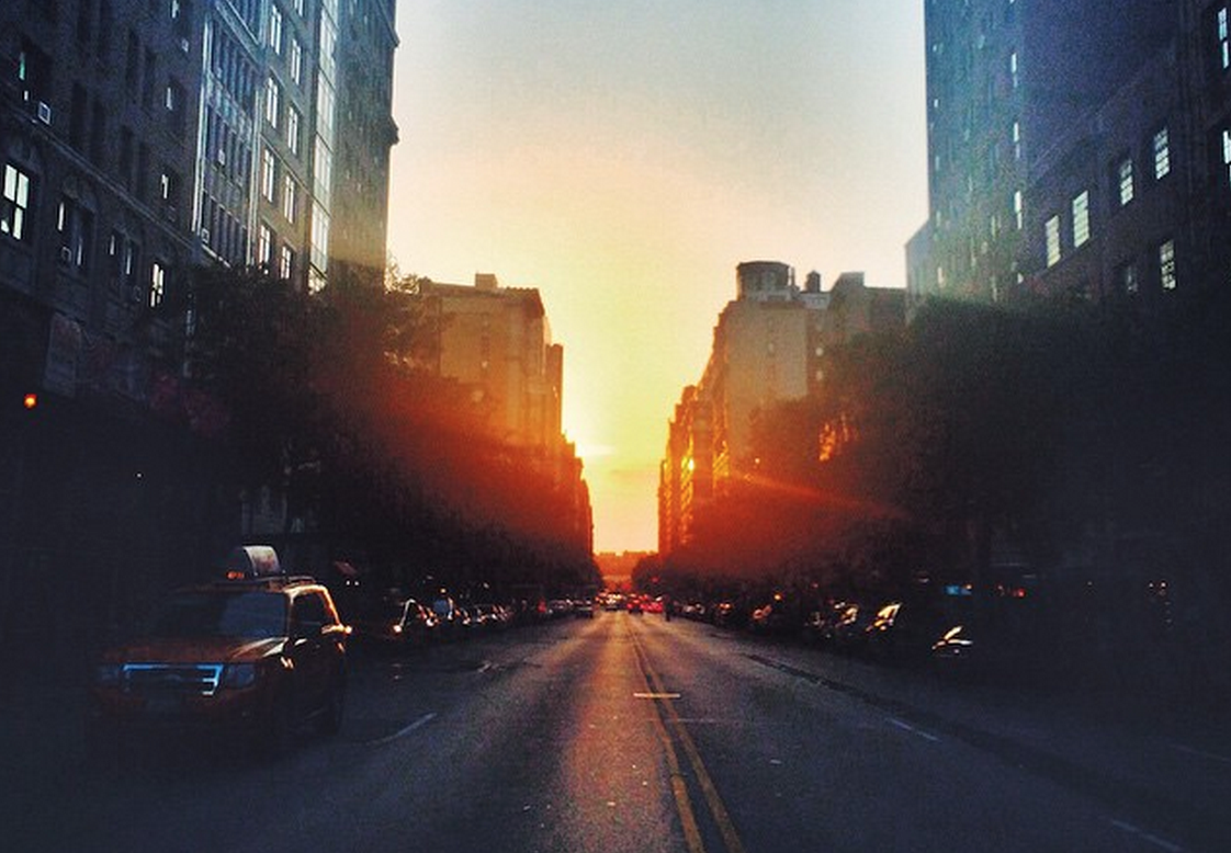 Photos from tonight's spectacular Manhattanhenge sunset