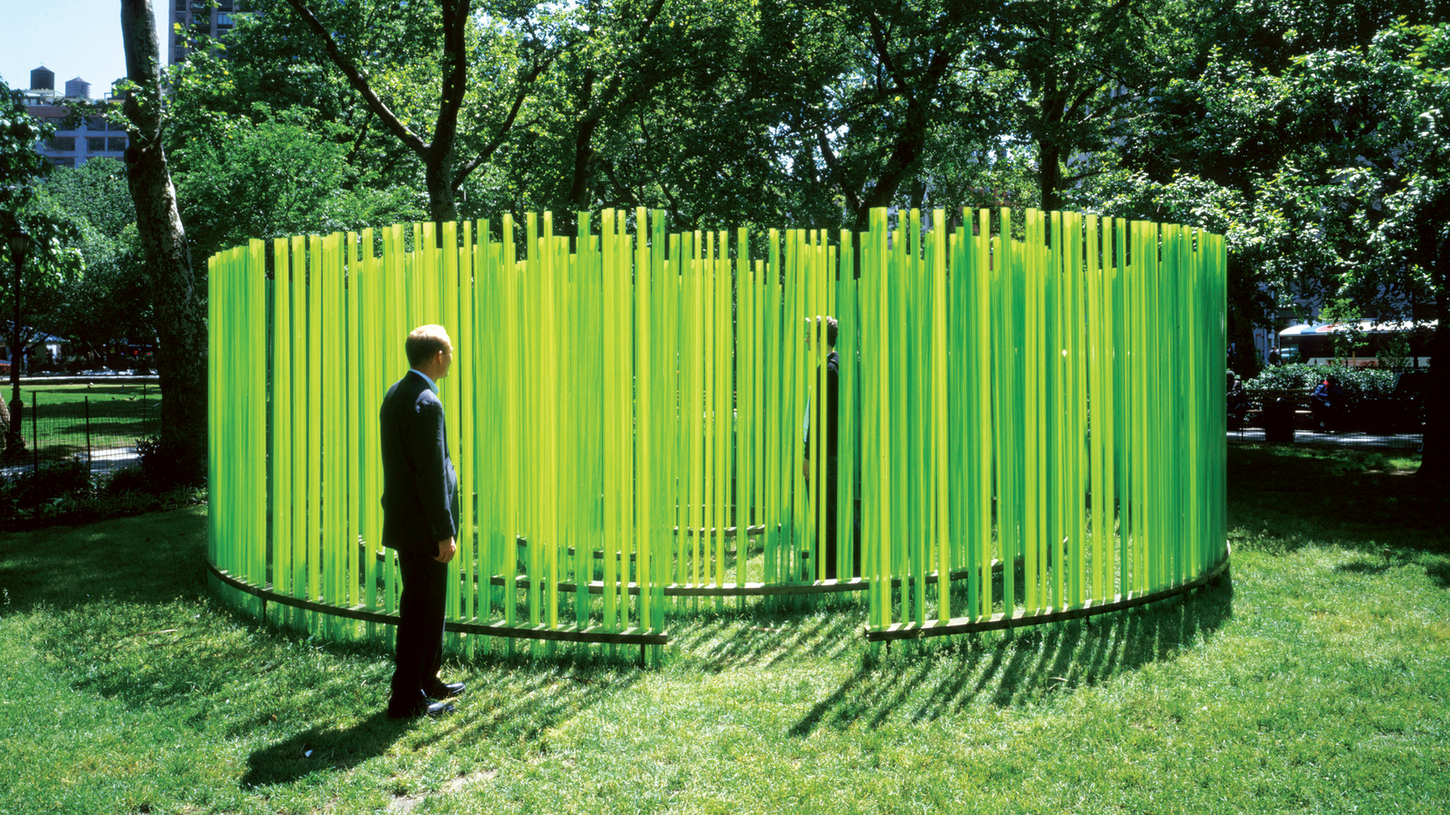 Teresita Fernández, Bamboo Cinema, 2001, Madison Square Park, New York, NY