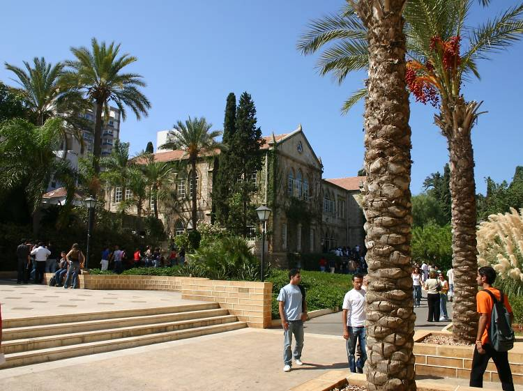 Explore the campus of Beirut's most famous university