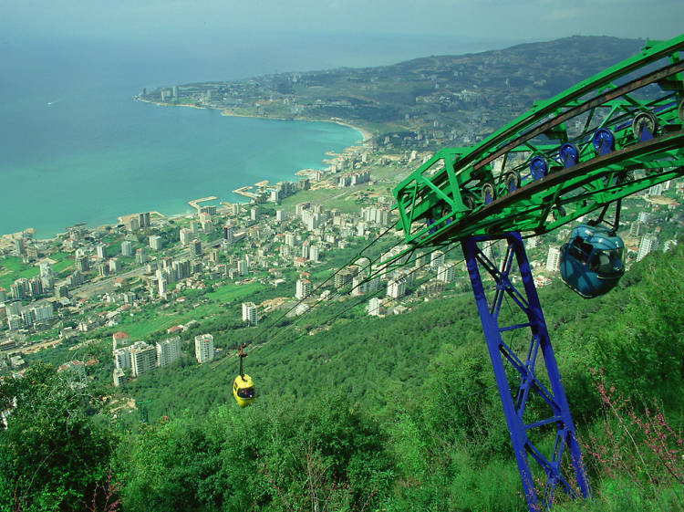 Take a dramatic cable car ride in Jounieh