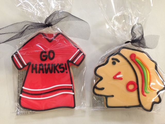 Pick up Blackhawks-themed food for your game-watching party